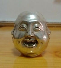 Tibet silver carved 4 face Buddha decoration-----Expression