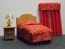 Dollhouse Miniature Bedroom Bed Curtains Lamp 1:48 Quarter Scale 1/4  H153