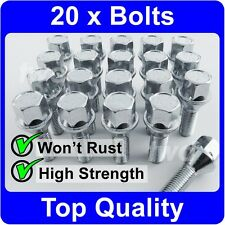 20 x ALLOY WHEEL BOLTS FOR SAAB 9-3 / 9-5 (M12x1.5) LUG NUT SCREWS [H50]