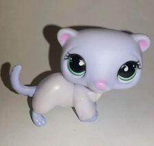 Littlest Pet Shop Purple Ferret Green Teardrop Eyes #880 Preowned LPS