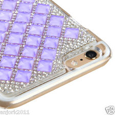 "iPhone 6 Plus (5.5"") Snap Fit Back Cover 3D Bling Gem Case Purple Diamond"