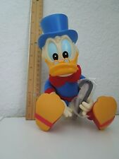RARE Vintage DUCKTALES SCROOGE McDUCK Vinyl Plush Doll with cane APPLAUSE Disney