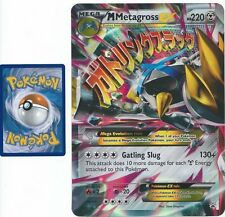 JUMBO Pokemon Mega Metagross EX #XY35 OVERSIZED Holo Promo Card w/ Top Loader