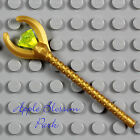 NEW Lego Pharaoh Quest GOLD STAFF - Minifig Weapon w/Neon Yellow Green Jewel Gem