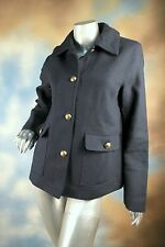NEW TOMMY HILFIGER navy blue wool peacoat coat jacket lined SZ: M