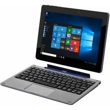 "PC Laptop Tablet Flexx 8.9"" 2-in-1 32GB Intel Quad Core Windows 10 Webcam Blue"