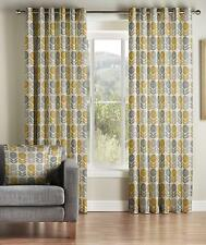 One Pair Of MONTGOMERY Modern Fresh Floral Design Uppsala Eyelet Lined Curtains