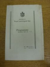 10/05/1936 Theatre Programme: Music Concert In Royal Leamington Spa - The Jan Be