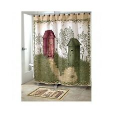Country Style Shower Curtains Outhouse Rustic Bathroom Rural Old Fashioned Charm
