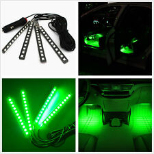 Car SUV Interior Footwell Floor Decor Atmosphere Light Green LED Neon Lamp Strip