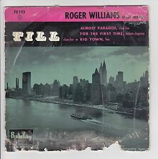 Roger WILLIAMS Vinyl 45 tours EP  ALMOST PARADISE - TILL- BARCLAY 70193 F Reduit