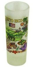 PUERTO RICO MAP FROSTED SHOOTER SHOT GLASS SHOTGLASS