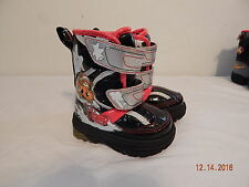 Boys Toddler Snow Winter boots Size 6 Disney CARS  Silver Black Velcrow