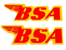"""BSA Decal peel and stick B44 41-8051 gas tank decals 7"""" x 2-1/4"""""""