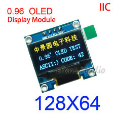 "B&Y 0.96"" I2C IIC 128x64 Small OLED LCD Display Module SSD1306 Arduino 3.3v 5v"