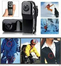 Md80 Mini Dv Dvr Deportes Moto Casco Cámara Pocket Spy Cam Video Grabador De Audio