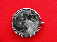 FULL MOON PLANET OUTER SPACE SCIENCE ROUND METAL PILL MINT BOX CASE