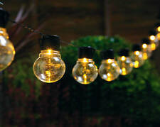 Solar Bulb String Lights Garden Outdoors Lighting Decoration No Wiring Required