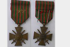 FRANCE- CROIX DE GUERRE 1914/1918 Citation de bronze MEDAILLE