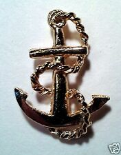 Collectible Pins / Nautical Theme: Anchor & Chain (Gold plated finish)