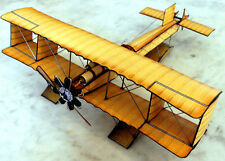 Voisin Canard Biplane Seaplane Aircraft Wood Model Small New