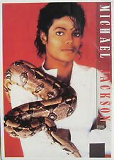 MICHAEL JACKSON Postcard SNAKE Pic. UK Early 90's Olivers Books Licensed 1 Only