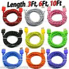 LOT Braided USB 3.0 Data Sync & Charger Cable Cord For SAMSUNG GALAXY S5 NOTE 3