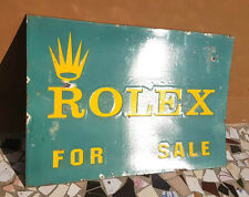 Original Vintage Old Very Rare ROLEX For Sale Ad Porcelain Enamel Big Sign Board