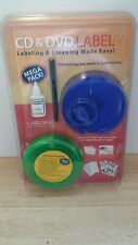 DVD CD LABEL WHIZ CLEANING AND LABELING KIT
