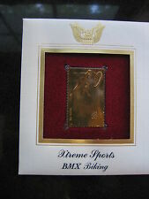 XTREME SPORTS BMX BIKING RACING bike 22kt Gold Golden Cover Stamp FDC replica