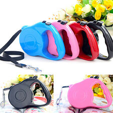 3M Extending Pet Dog Automatic Leash Lead Strap Retractable Adjustable Rope Pink