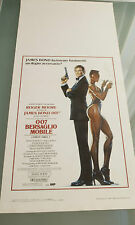 James Bond 007 A VIEW TO A KILL Poster AUTHENTIC Italian 1985