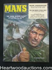 """Man's"" April 1959 Claudia Cardinale, Bob Schulz Cvr, Vic Prezio  - High Grade-"