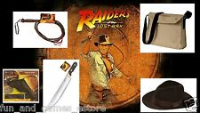 INDIANA JONES CHILD COSTUME ACCESSORY SET HAT WHIP GUN HOLSTER BAG Fedora KNIFE