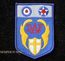 DESERT AIR FORCE DAF PATCH US ARMY AIR CORPS ROYAL RAF USAF ALLIES WORLD WAR 2