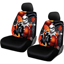 4 PC Officially Licensed Harley Quinn Seat Covers  - Low Back