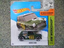 Hot Wheels 2014 #194/250 MORRIS MINI green Union Jack HW WORKSHOP Batch N
