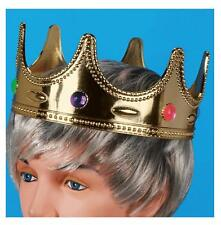 KIDS SIZE JEWELED CROWN HAT childrens king princess cap with jewels dressup prop