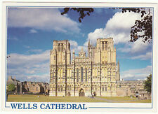 Unused Arthur Dixon  Postcard Somerset Wells Cathedral, West front, 42034