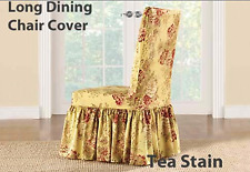 Sure Fit 1 Piece Slipcover Tea Stain Ballad Bouquet Waverly Long Dining Chair