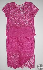 Lace Skirt Top Outfit Set Raspberry Bijou Medium Sexy Large New with tags