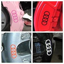 10 pc set Audi Brake Caliper Vinyl Sticker Decal Logo Overlay All Audi Vehicles