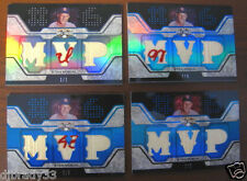 "Stan Musial 2008 Topps Triple Threads Set Game Used 1/1,1/3,2/3,3/3 ""48 M AL"""