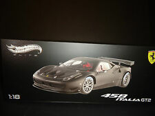 Hot Wheels Elite Ferrari 458 Italia GT2 Presentation Version Matt Black 1/18