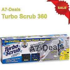 Turbo Scrub 360 Cordless Handheld Cleaning Brush 6 Piece pc Set As Seen On Tv