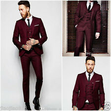 Best Men Slim Fit Business Tuxedos Formal Party Suits Wedding Groom Suits Custom