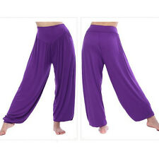 Women harem genie yoga Long pants aladdin hippie baggy jumpsuit belly dance boho