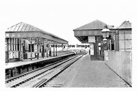 pt8766 - Cadishead Railway Station , Yorkshire in 1963 - photograph 6x4