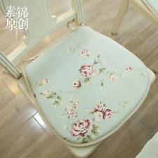 French Country Cottage Shabby Chic Floral Green Chair Seat Pad/Mat cushion