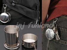 Outdoor Portable 140ml Stainless Steel Wine Water Foldable Collapsiable  Cup